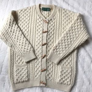 Sweaters - British Wool Fisherman's Cardigan Sweater